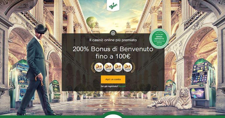 MrGreen Bonus di Benvenuto Casinò