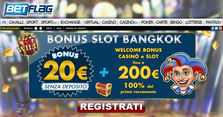 Welcome Bonus Casinò Betflag